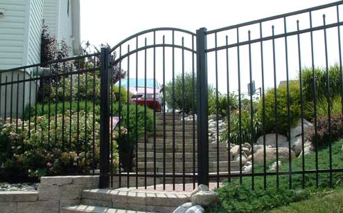 Aluminum and steel fence