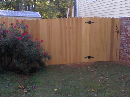 Cypress Wood Fence