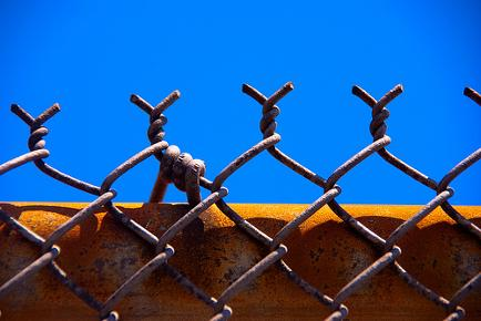 Rusty chain link repaired