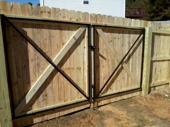 Eliminator gate frame kit alcovy fence contractor
