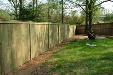 Capped wood fence